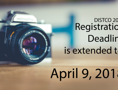 Registration Deadline is extended: April 9, 2018.